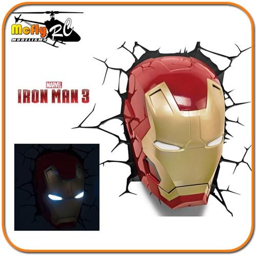 Luminaria 3D Light Iron Man com LED Homem De Ferro