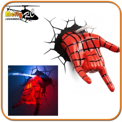 Luminaria 3D Light Spider Man Hand LED, Mão do Homem Aranha
