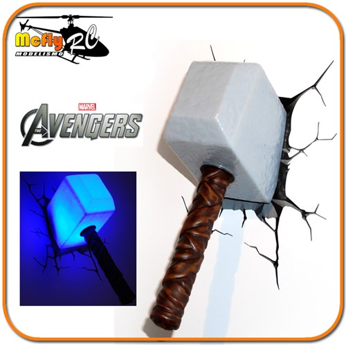 Luminaria 3D Light Thor Avengers