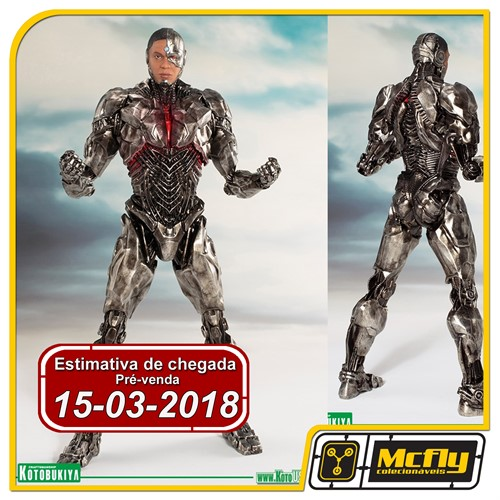 (RESERVA 10% DO VALOR) Kotobukiya JUSTICE LEAGUE MOVIE CYBORG ARTFX+