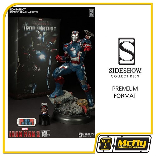 Sideshow Iron Man 3 Iron Patyriot EXCLUSIVE Premium Format Maquette