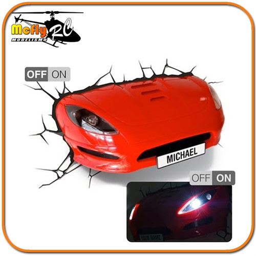 Luminaria 3D Light Sport car com LED