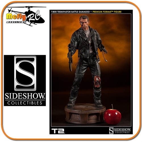 The Terminator T-800 Battle Damaged Premium Format - Sideshow
