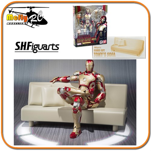 S.h Figuarts Iron Man 3 Mark 42 + Tony Sofa
