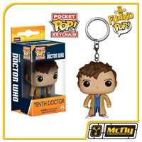 FUNKO Keychain: Doctor Who - Dr #10 Tenth Dr. Chaveiro
