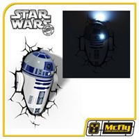 Luminária 3D Light FX Star Wars R2-D2 Com LED