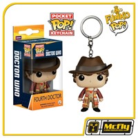 FUNKO POP Keychain: Doctor Who - Dr #4 - Fourth Dr. Chaveiro