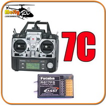 Radio Controle Futaba Fasst 7c T7c 2.4ghz + Receptor R617fs
