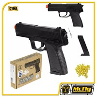 Airsoft Pistola Compact Zm20 6mm Full Metal Cyma + 100bbs