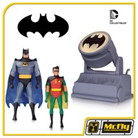 Batman animated Batman e Robin With AVEC BAT SIGNAL The Animated Series