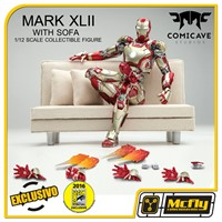 COMICAVE STUDIOS IRON MAN MARK XLII 42 WITH SOFA COMIC CON 2016