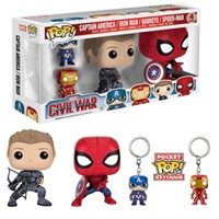 Funko POP 4 PACK Spider Man HAwkeye Captain AMerica Iron man
