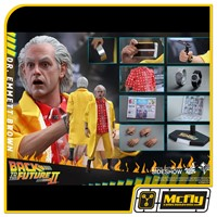 Hot Toys DR. EMMETT BROWN Back To The Future Part II MMS380