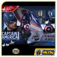 Hot Toys CAPTAIN AMERICA CIVIL WAR BATTLING VERSION MMS360 Exclusivo