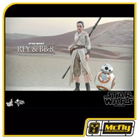 Hot Toys Rey e BB-8 MMS337 STAR WARS THE FORCE AWAKENS ( Caixa Amassada)