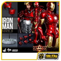 Hot toys Iron man Mark III 3 Diecast MMS256D07 Homem de Ferro