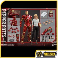 Hot Toys Iron Man 3 PEPPER POTTS & MARK IX MMS311