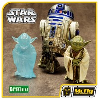 Kotobukiya Star Wars Yoda and R2-D2 Dagobah ARTFX Statue 2 Pack