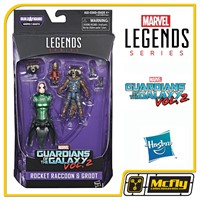 Marvel Legends Series Rocket Raccon e Groot Guardian of the Galaxy vol 2