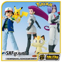 S.H Figuarts Pokemon Ash e equipe Rocket Set DX