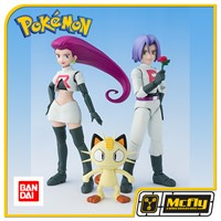 S.H Figuarts Equipe Rocket Pokemon Jessie James e Meowth