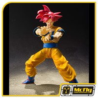 S H Figuarts Goku God Red Hair
