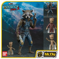 S.H Figuarts Rocket e Groot Guardians Of The Galaxy Vol 2