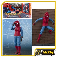 S.H Figuarts Spider Man Home Made Suit Ver Option ACT Wall