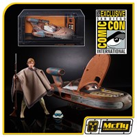 STAR WARS BLACK SERIES Luke Skywalker & X-34 Landspeeder SDCC 2017