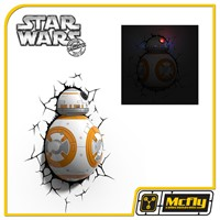 Luminária 3D Light FX Star Wars BB-8 com LED