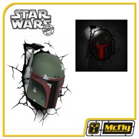Luminária 3D Light FX Star Wars Boba Fett Com LED