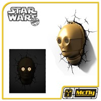 Luminária 3D Light FX Star Wars C-3PO Com LED