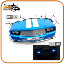 Luminaria 3D Light Classic car com LED