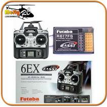 Radio Controle Futaba Fasst 6ex 2.4ghz 6 Canais + Receptor 7