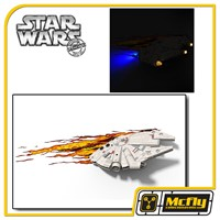 Luminária 3D Light FX Star Wars Millennium Falcon com LED
