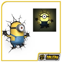 Luminária 3D Light FX Minions Stuart com LED