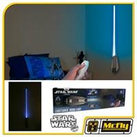 Luminária Star Wars Sabre de Luz Obi-Wan Kenobi Com LED