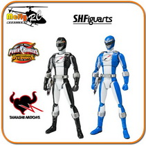 S.H Figuarts Power Rangers Operation Overdrive Black & Blue