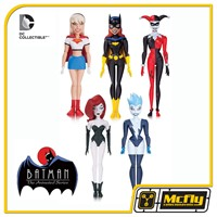 Batman Adventures PACK com 5 Harley Quinn, Poison Ivy, Livewire, Supergirl, e Batgirl Animated Series