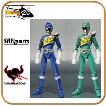 S.h.figuarts Power Rangers Zyuden Kyoryu Blue E Kyoryu Green Ranger