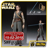 (RESERVA 10% DO VALOR) S H Figuarts Star Wars Rey The Last Jedi