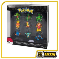 TOMY Pokemon Evolution Treecko, Torchic & Mudkip Figure 9-Pack