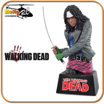 The Walking Dead Michonne Bust Cofre para moedas