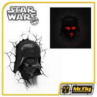 Luminária 3D Light FX Star Wars Darth Vader Capacete com LED