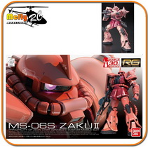 Gundam 1/144 RG #02 Char s Aznable MS-06S Zaku II Model Kit
