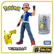 Takara Tomy Pokemon Ash e Pikachu Moncolle Figure 2014 Satoshi & Pikachu Set
