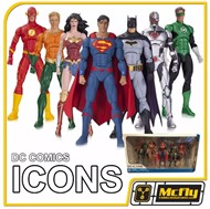 DC ICONS Justice League Superman Flash Wonder Woman Batman Aquaman Cyborg Green Lantern