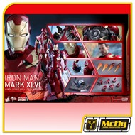 (Reserva 10% do Valor)  Hot Toys CAPTAIN AMERICA CIVIL WAR IRON MAN MARK XLVI 46 MMS353D16