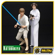 Kotobukiya Luke Skywalker e Princesa Leia Star Wars