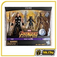 Marvel Legends Thor Rocket Raccoon Groot Avengers Toys Rus Pack 3